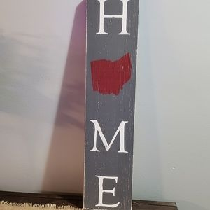 NEW Handmade 2 Foot Vertical Rustic OHIO HOME Sign